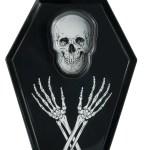 Way To Celebrate Melamine Skull Coffin Serve Tray Walmart Com Walmart Com