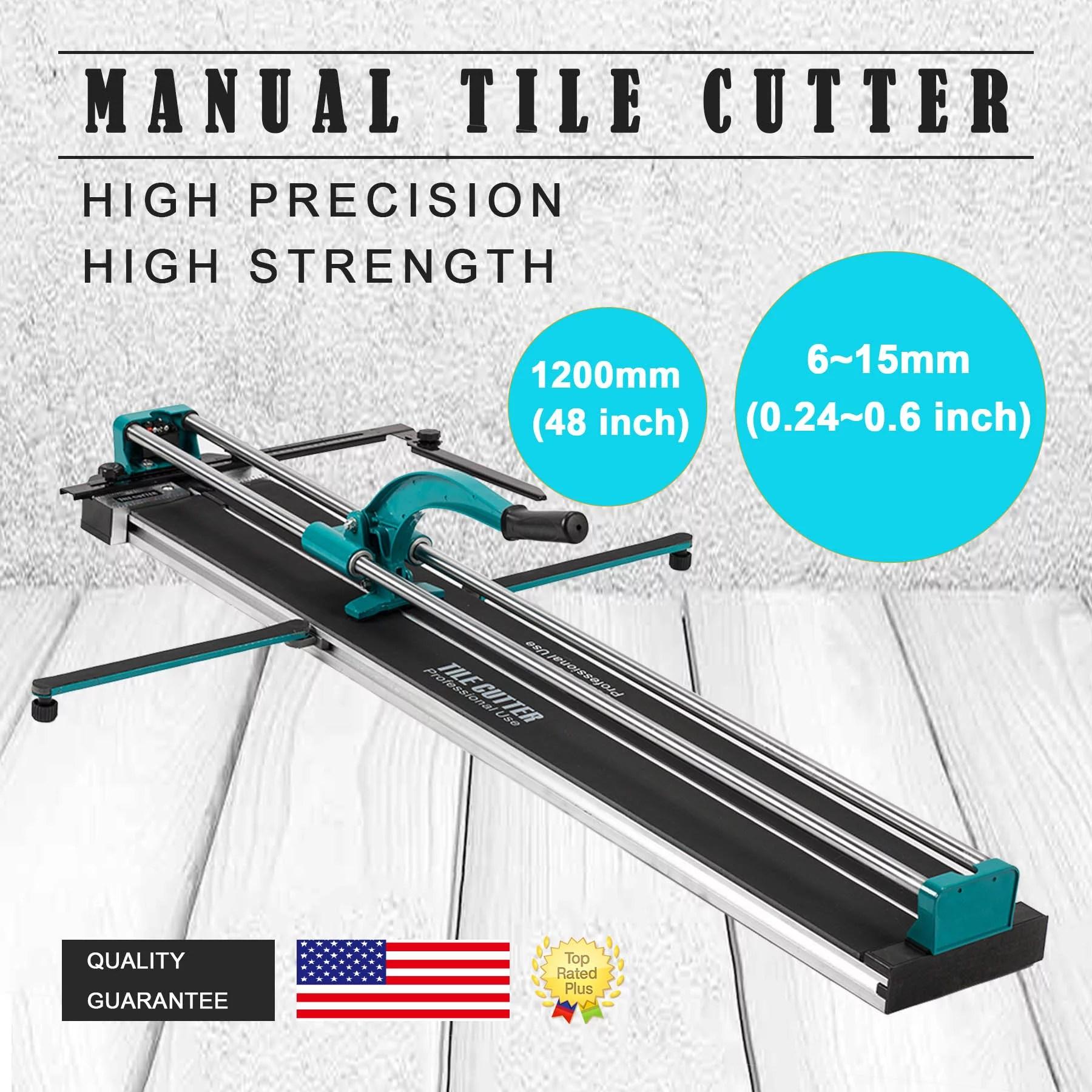 48 manual tile cutter cutting machine durable adjustable laser guide walmart com