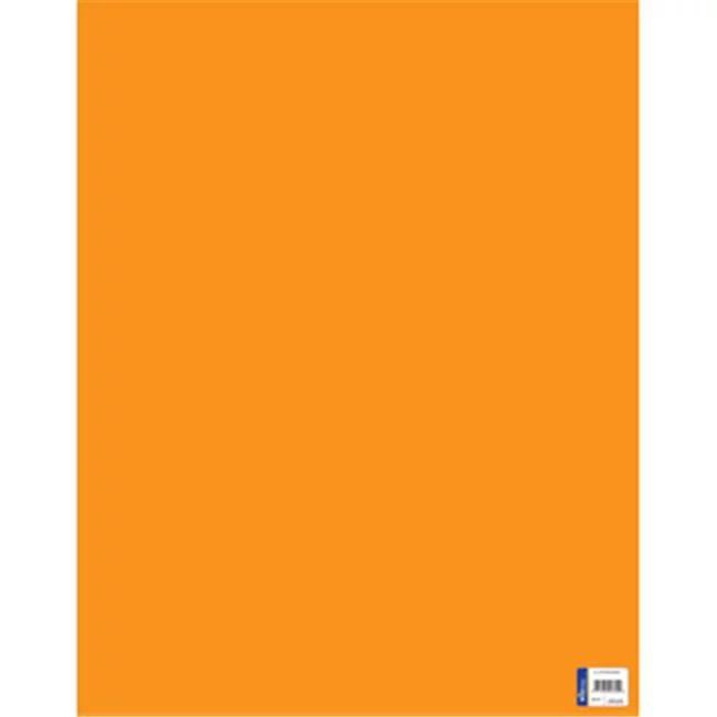 22 in x 28 in orange poster board 25 count