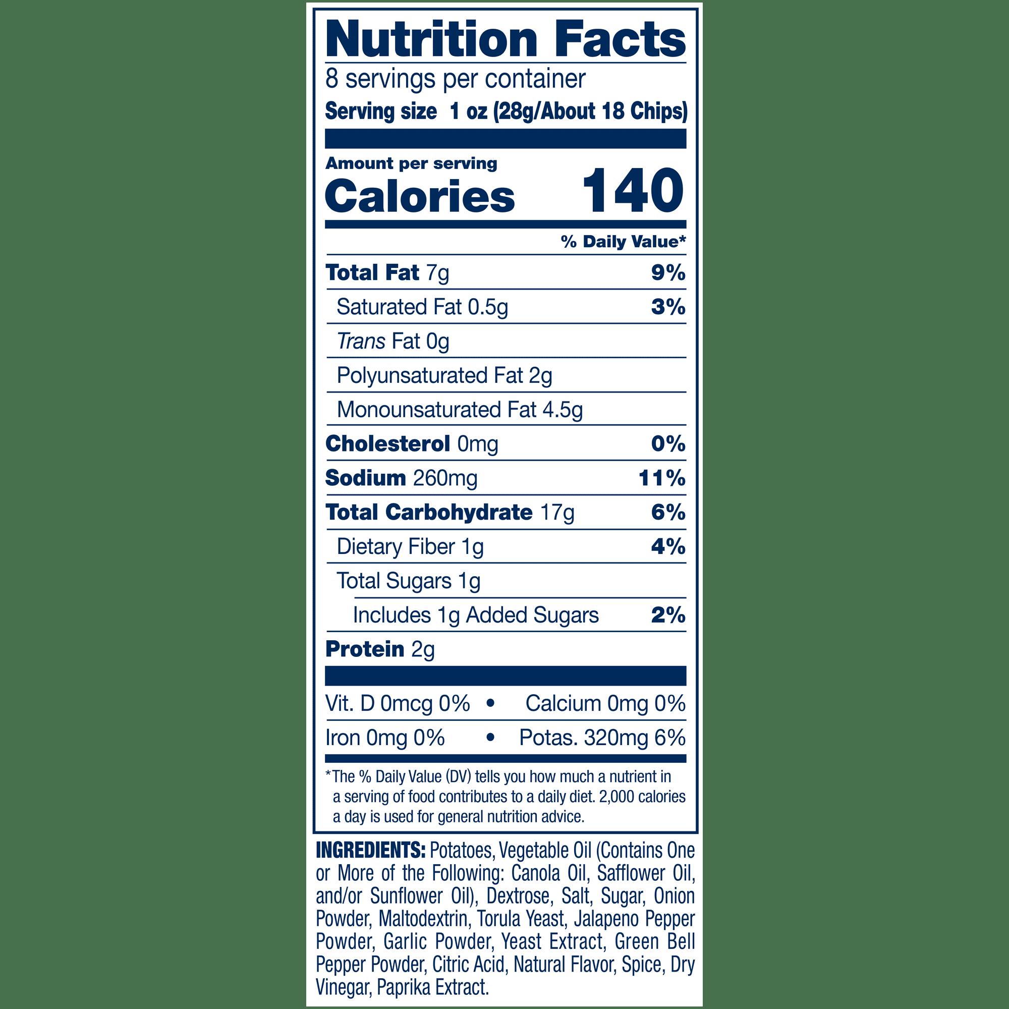 Birthday Girl Chip Bag Birthday Nutrition Facts