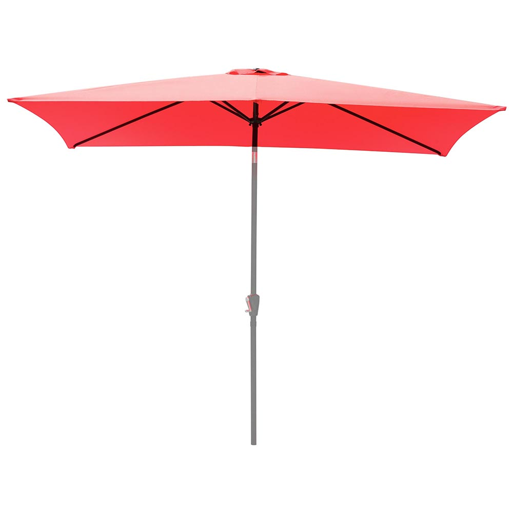 yescom patio rectangle umbrella canopy replacement top cover f 6 5x10ft umbrella