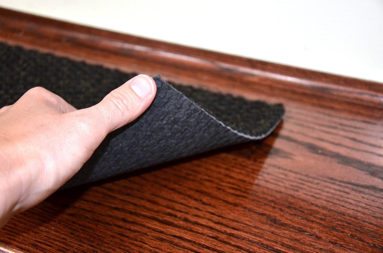 Black Indoor Outdoor Non Skid Slip Resistant Carpet Stair Treads | Black Carpet Stair Treads | Bullnose | Padded | Stair Runner | Staircase | Non Slip Stair Tread