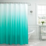 Creative Home Ideas Ombre Textured Shower Curtain With Beaded Rings Barn Red Walmart Com Walmart Com