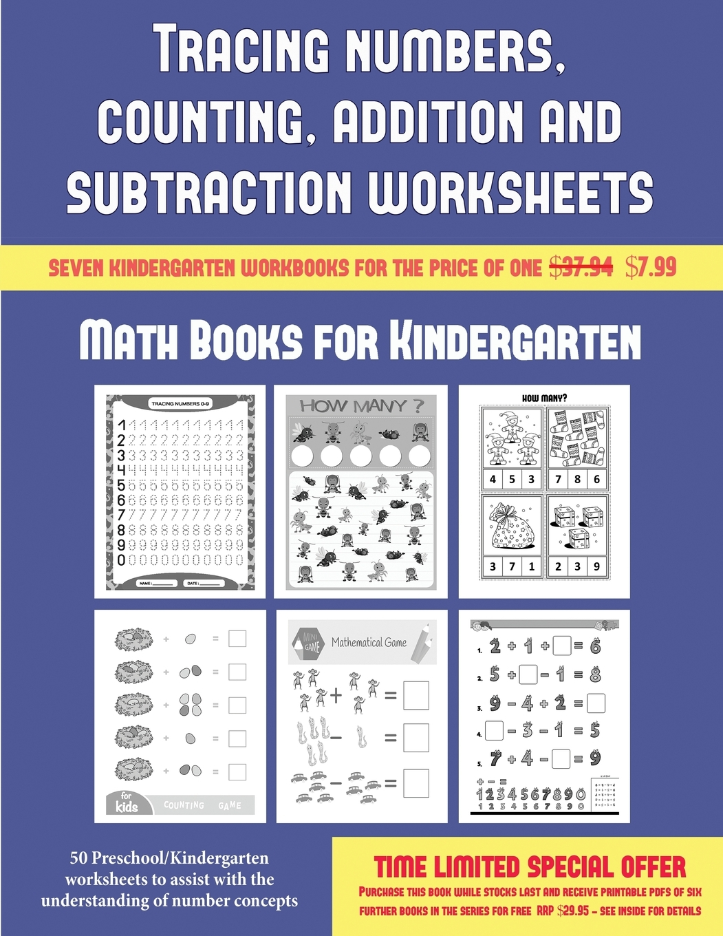 Math Books For Kindergarten Tracing Numbers Counting