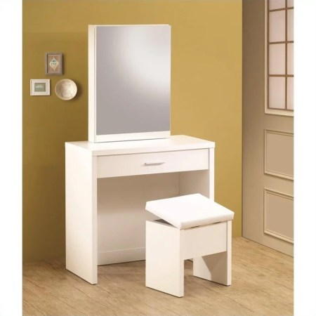 Modern Vanity Set In White