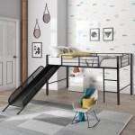 Enyopro Metal Loft Bed Frame Space Saving Bunk Bed With Slide Ladder Safety Guard Rails Twin Loft Bed For Bedroom Dorm Boys Girls Teens Kids Room Multifunctional Design Easy Assembly K160