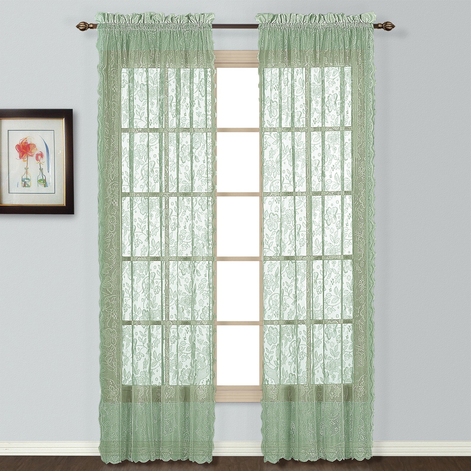 windsor 56 x 84 window curtain panel sage