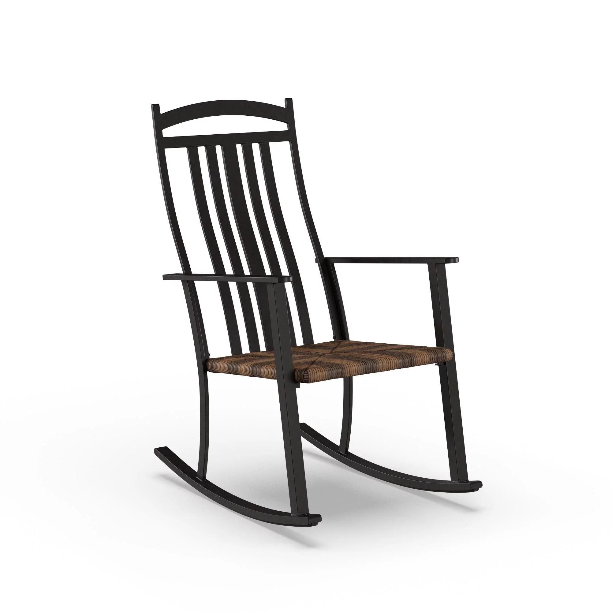 better homes gardens belle drive outdoor steel wicker rocking high back chair