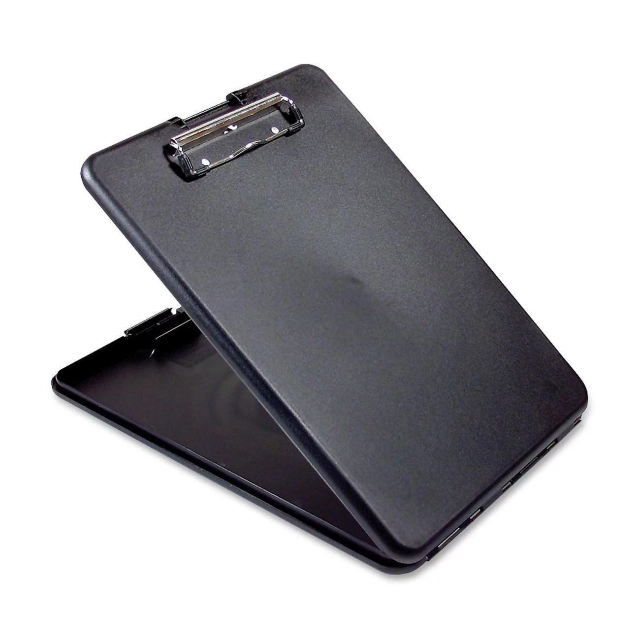 saunders sau00558 slim mate plastic storage clipboard 1 each black
