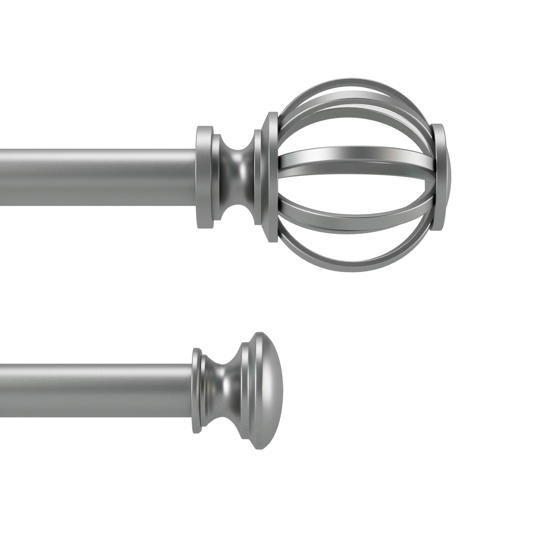 mainstays 84 cage adjustable double curtain rod silver walmart com