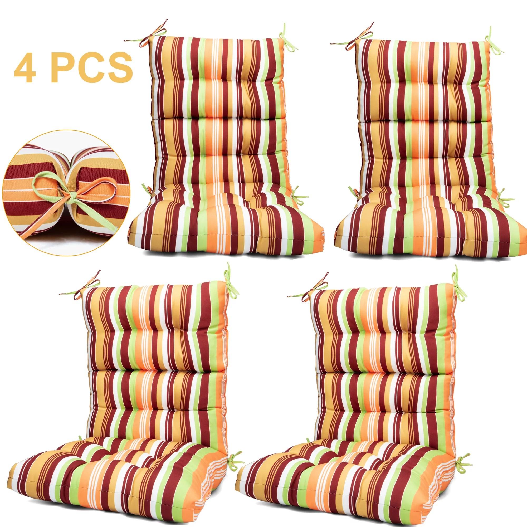 outdoor chair cushion dining solid chair cushion outdoor high back patio chair cushion high rebound foam chair cushions for patio garden decor 44x21