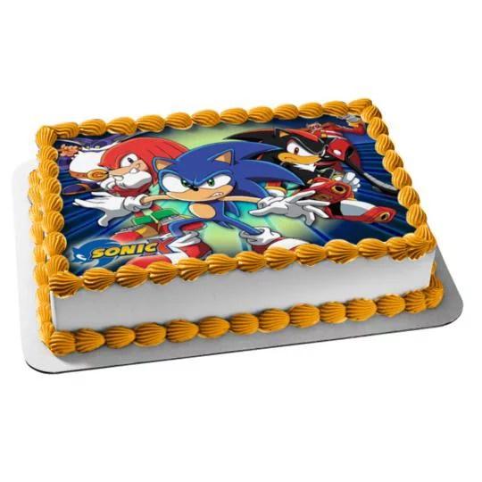 Sega Sonic The Hedgehog Knuckles Edible Cake Topper Image 10 X 8 Walmart Com Walmart Com