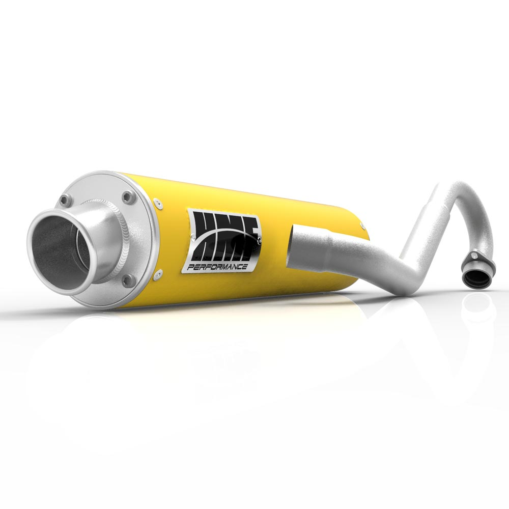 hmf performance full system yellow w brushed cap exhaust yamaha raptor 700 06 14 walmart com