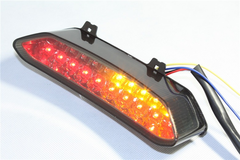 htt motorcycle led tail light brake light with integrated turn signals indicators for 2002 2003 yamaha yzf r1 yzf r1 yzfr1 clear