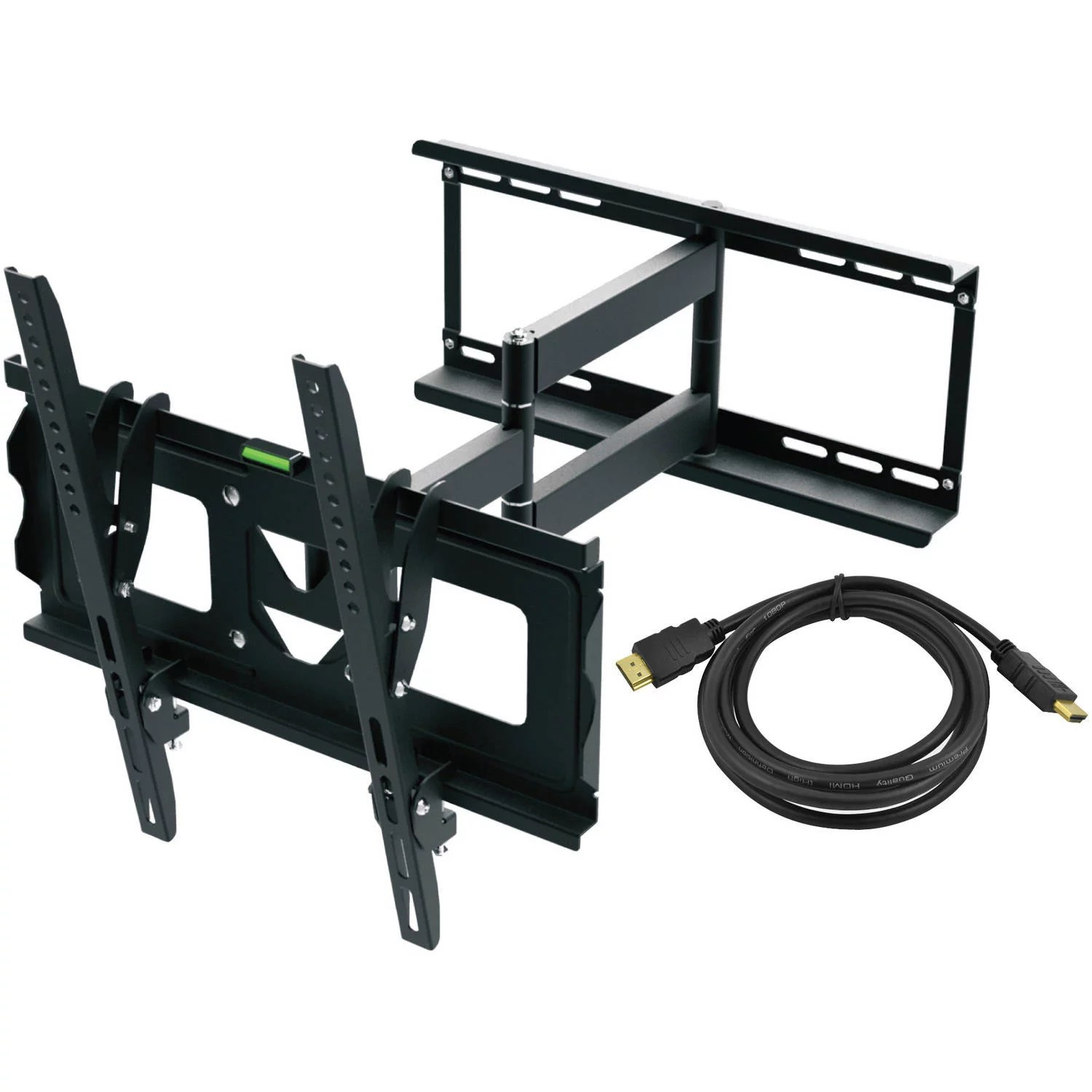 ematic full motion tv wall mount kit with hdmi cable for 19 70 displays walmart com