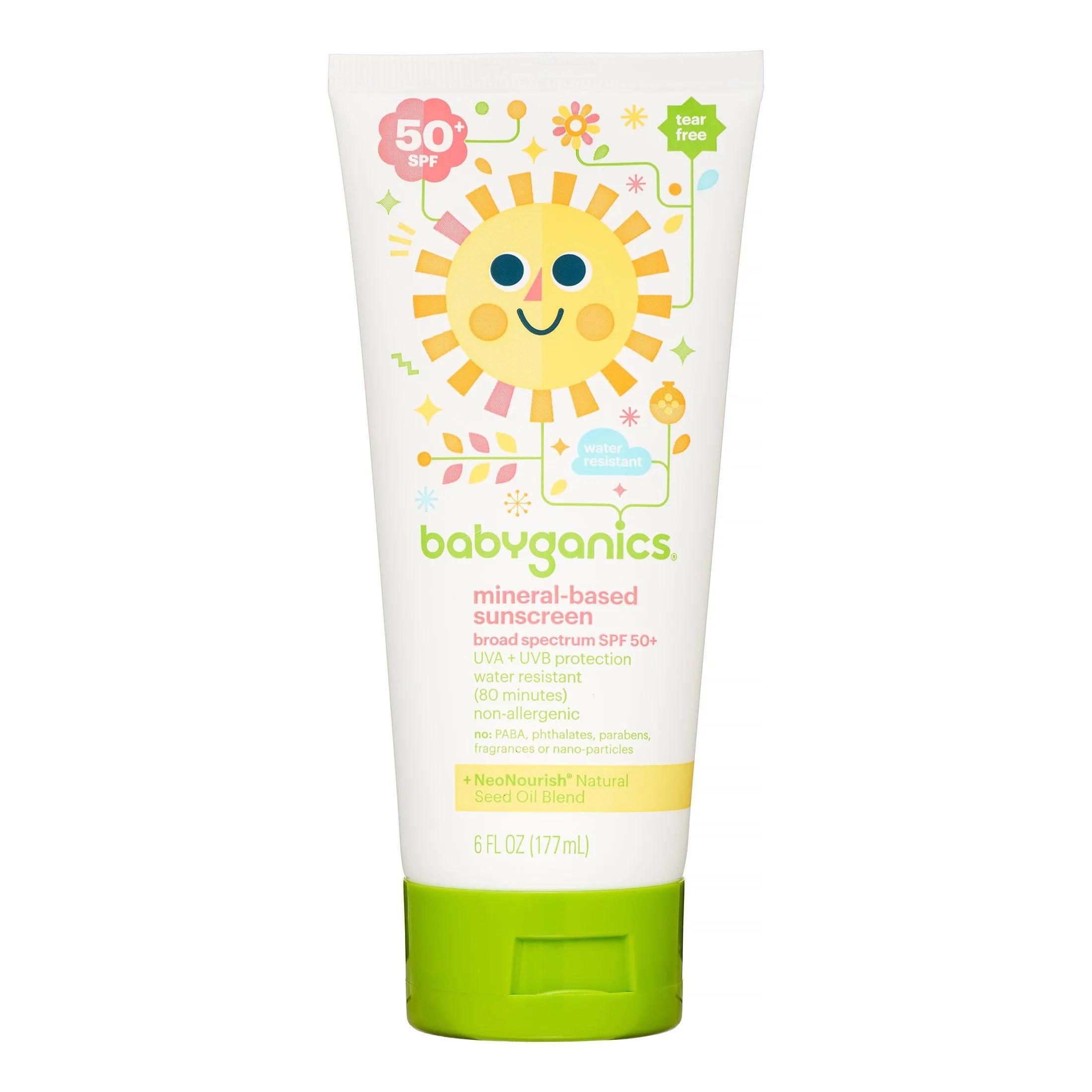Babyganics Mineral-Based Baby Sunscreen Lotion, SPF 50, 6 Fl Oz