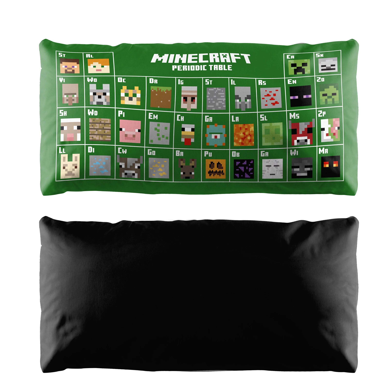minecraft periodic table body pillow