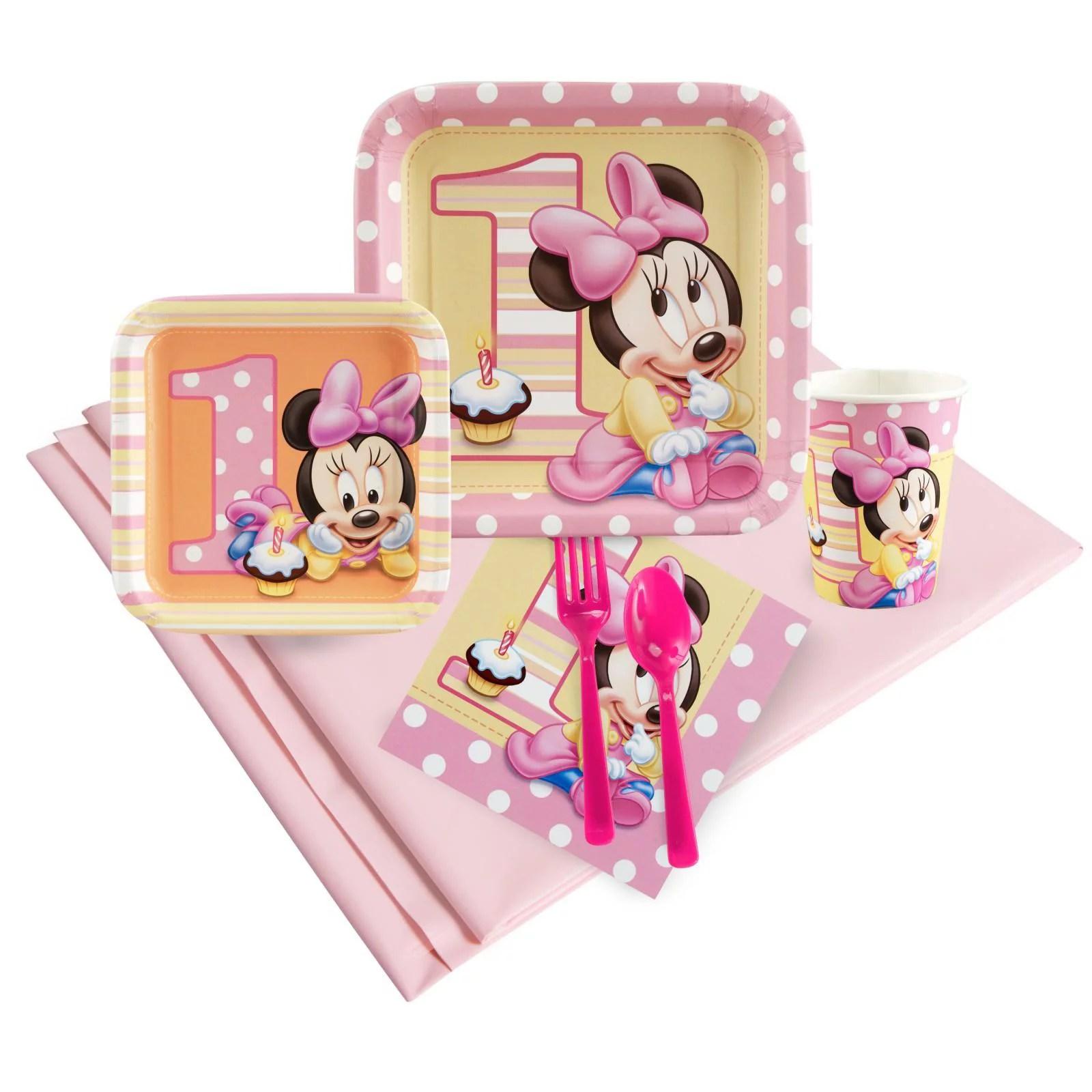 Minnie Mouse 1st Birthday Party Pack Walmart Com Walmart Com