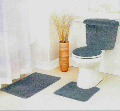 reflections 5 piece bath rug contour lid tank lid tank cover set gray