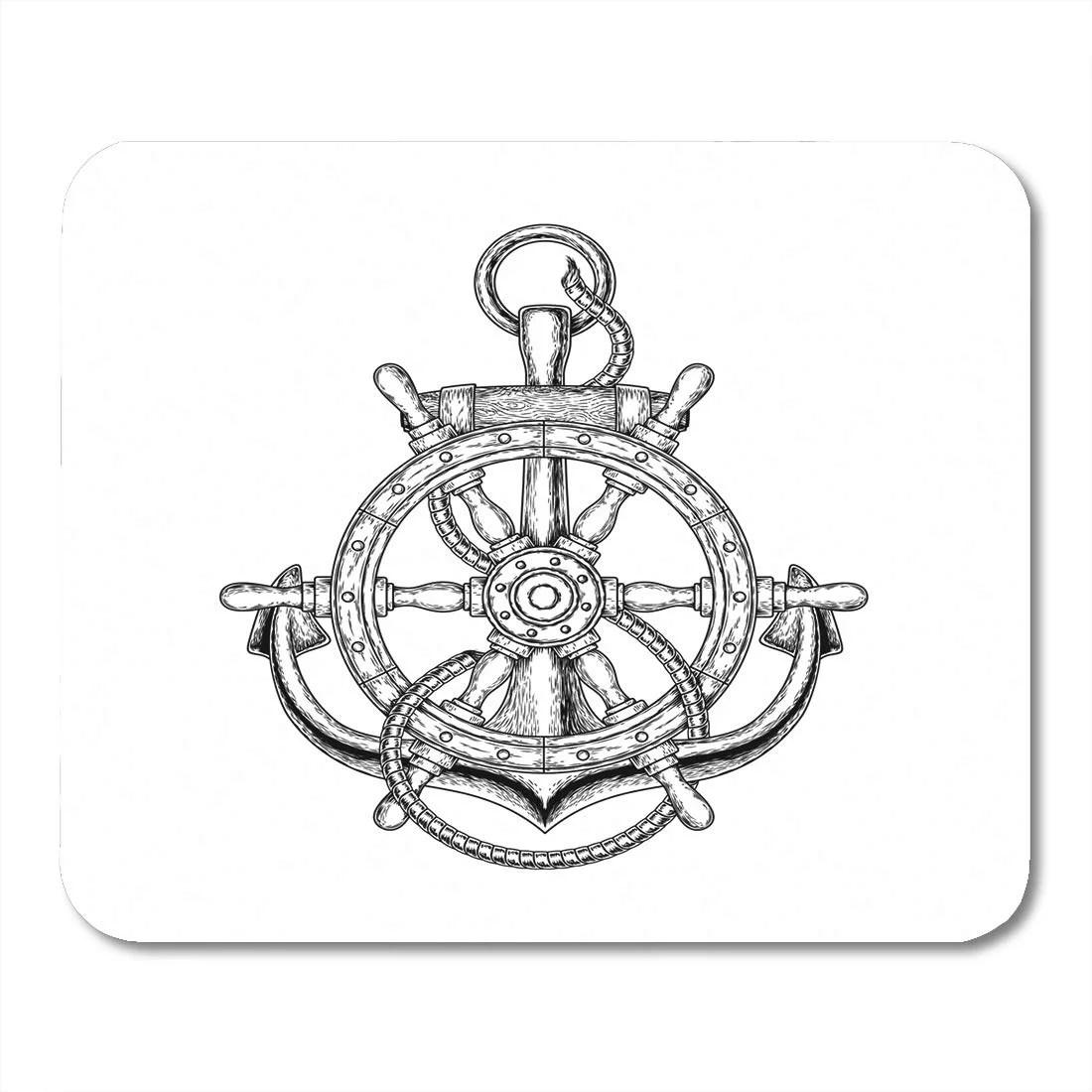 Sidonku Tattoo Of Nautical Steering Wheel And Anchor