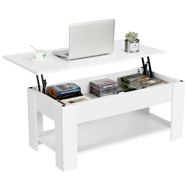 Smilemart Modern Lift Top Coffee Table With Hidden Compartment Storage For Living Room Reception Room White Walmart Com Walmart Com