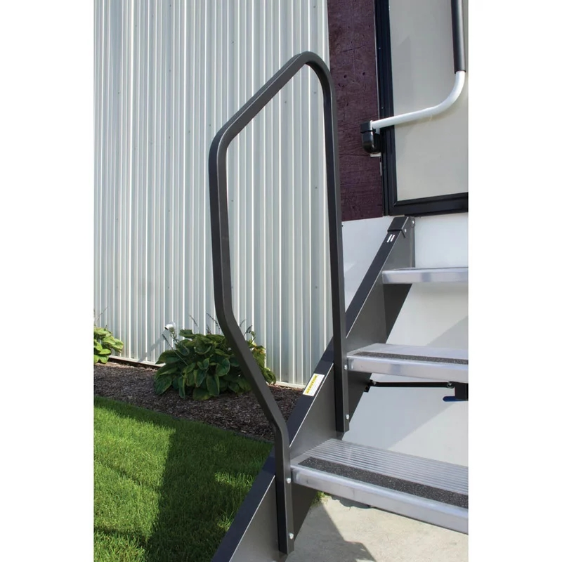 Price Ea Mor Ryde Morryde Stepabove 4 Step Fold Up Handrail   Folding Stairs With Handrails   Elderly   Hydraulic   Hand Rail   Aluminum   Interior