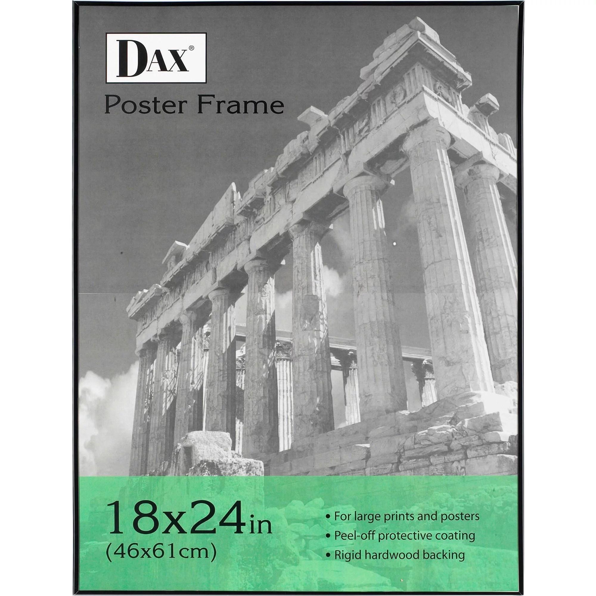 dax coloredge poster frame clear plastic window 16 x 20 black walmart com