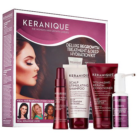 keranique deluxe regrowth treatment and deep hydration kit walmart