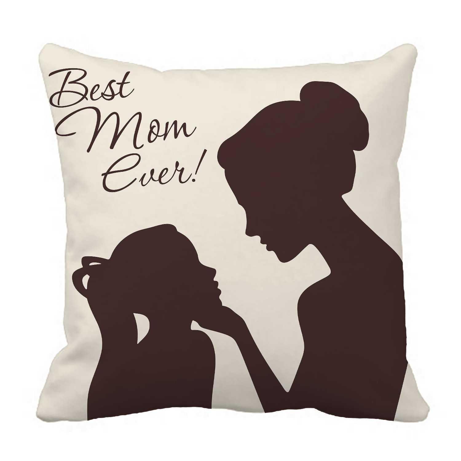 abphqto mother daughter silhouettes best mom ever pillow case pillow cover pillow protector two sides for couch bed 20x20 inch