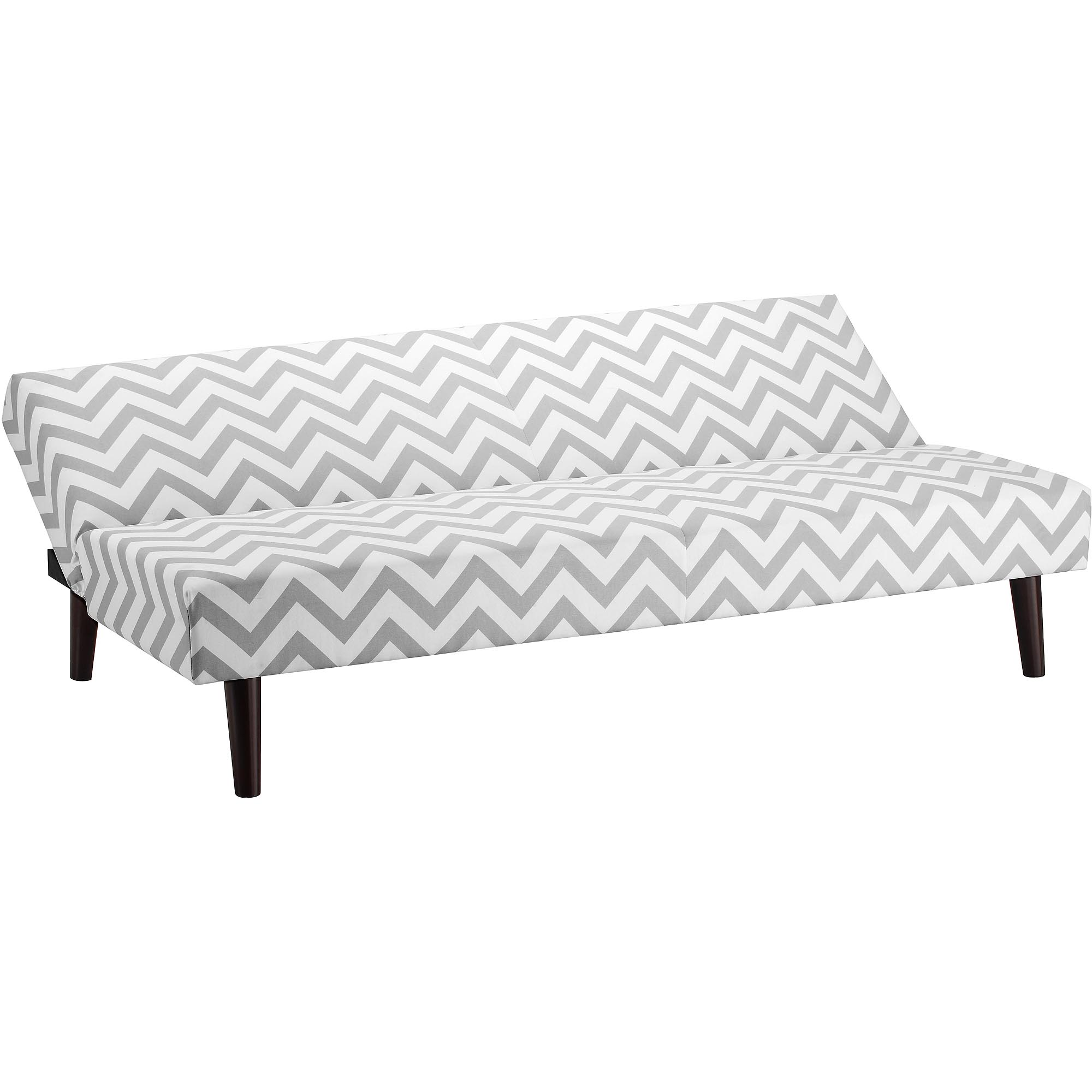 Grey Roll Arm Chaise