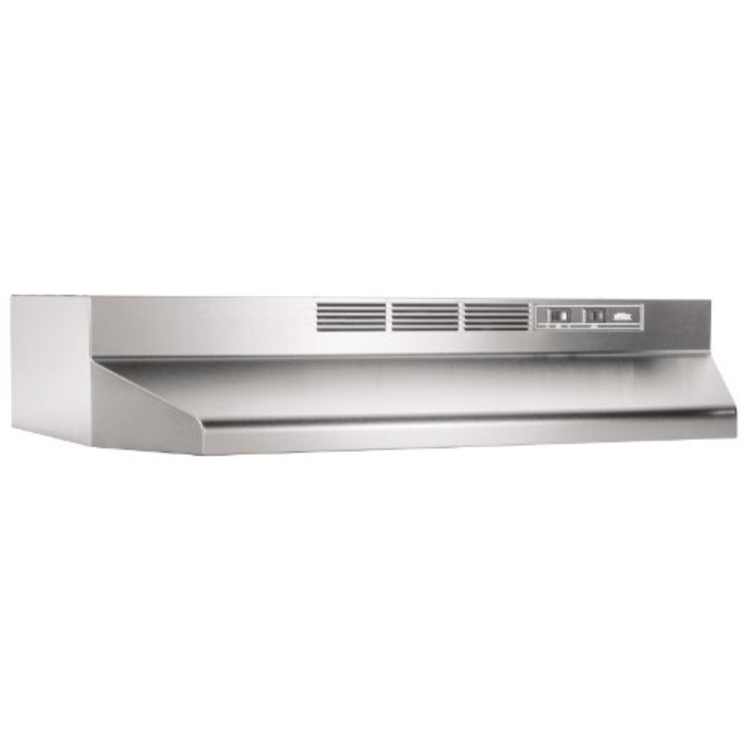 broan nutone 413004 stainless steel ductless range hood insert with light exhaust fan for under cabinet 30 inch walmart com