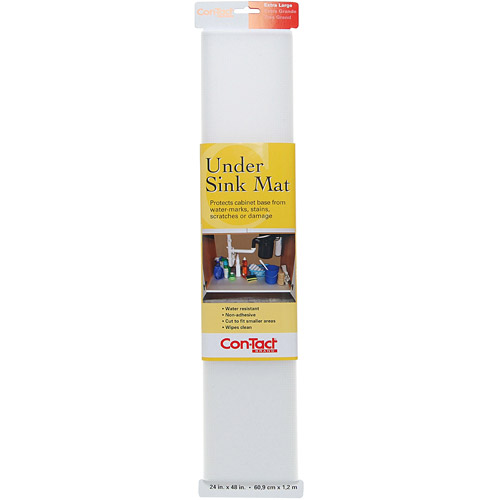 con tact liner under sink mat 24 x 4 roll clear
