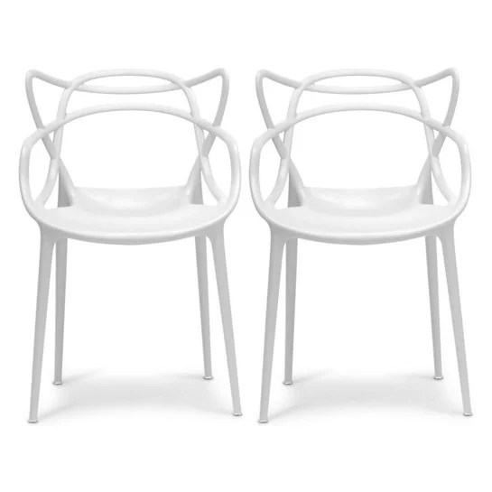 2xhome set of 2 white stackable contemporary modern designer plastic chairs with arms open back armchairs for kitchen dining chair outdoor patio