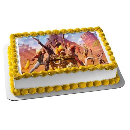 Fortnite Season 9 Luxe Assorted Skins Edible Cake Topper Image 1 4 Sheet Abpid35585 Walmart Com Walmart Com