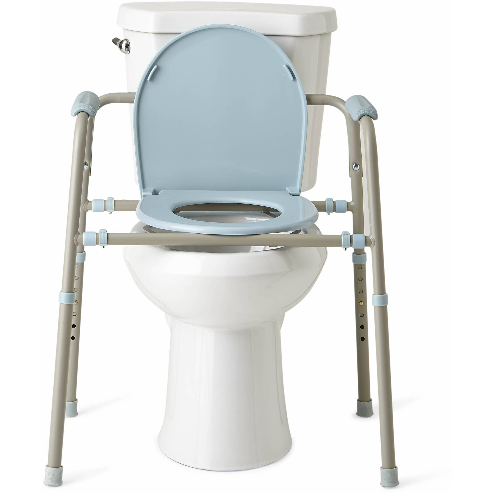 Medline Steel 3 in 1 Bedside Toilet Commode with Microban   Walmart com