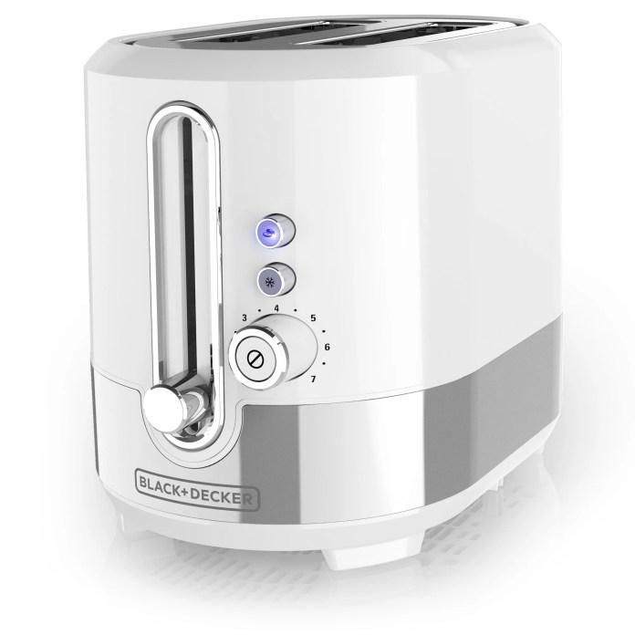 BLACK+DECKER 2-Slice Extra-Wide Slot Toaster, White, TR2200WSD