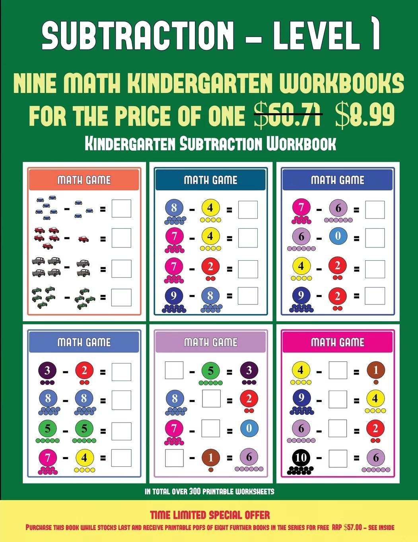 Kindergarten Subtraction Workbook Kindergarten