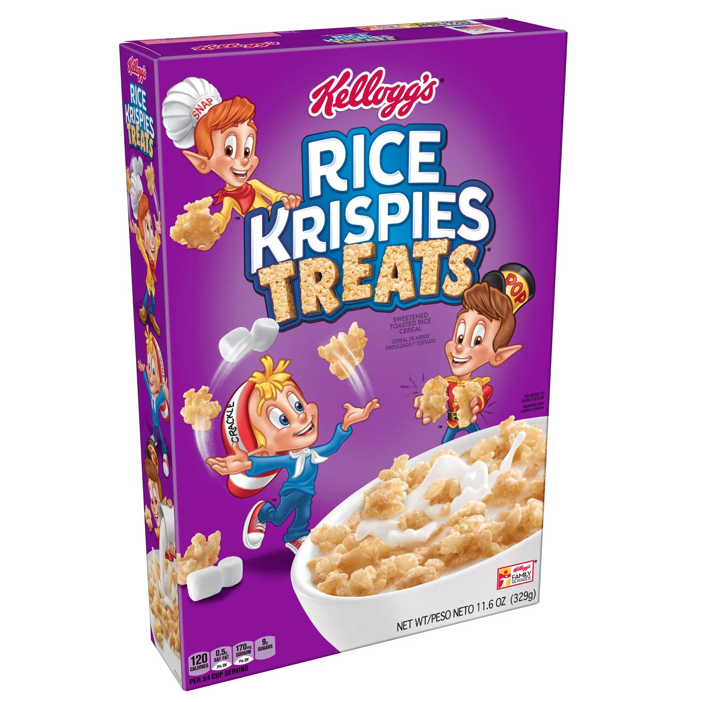 Kellogg S Rice Krispies Treats Breakfast Cereal Original 11 6 Oz Walmart Com Walmart Com