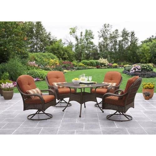 better homes and gardens azalea ridge patio dining set outdoor wicker cushioned 5 piece