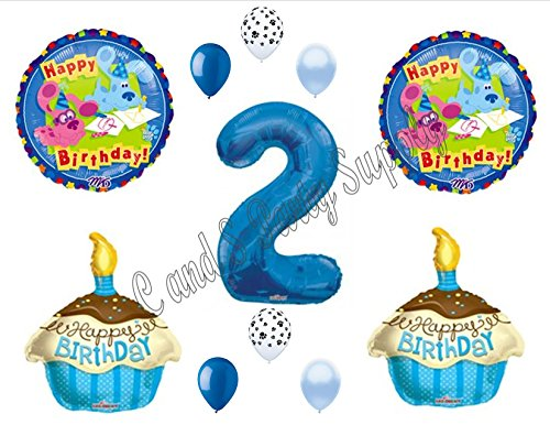 Blues Clues Magenta 2nd Birthday Party Balloons Decoration Supplies Second Walmart Com Walmart Com