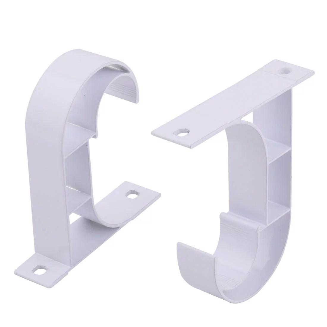 curtain rod brackets white set of 2 pvc curtain rod bracket for walls curtain rod holder