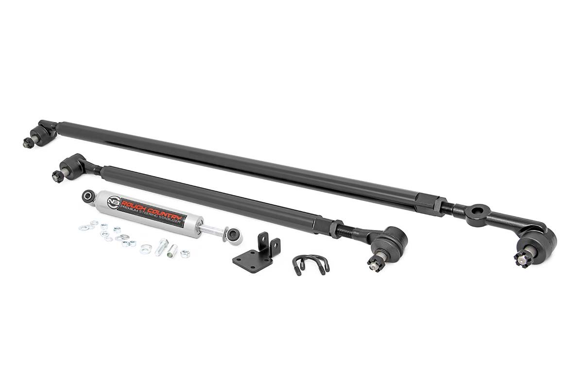 Rough Country Hd Steering Kit Steering Stabilizer Fits