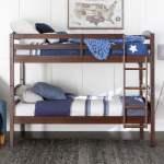 Walker Edison Solid Wood Twin Over Twin Bunk Bed Espresso Walmart Com Walmart Com