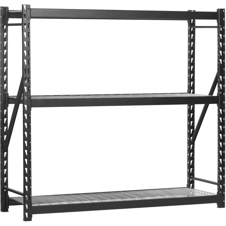 Edsal 77 W X 24 D X 72 H Steel Welded Storage Rack Black Walmart Com