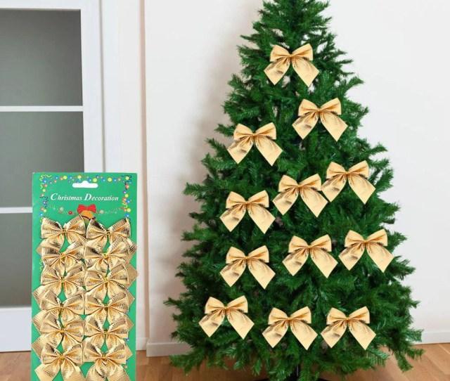Vbestlife Pcs Set Bowknot Christmas Tree Hanging Ornament Xmas Festival Party Indoor Decoration Christmas Hanging Ornament Christmas Decoration