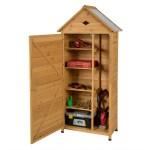 Gymax Outdoor Storage Shed Lockable Wooden Garden Tool Storage Cabinet W Shelves Walmart Com Walmart Com