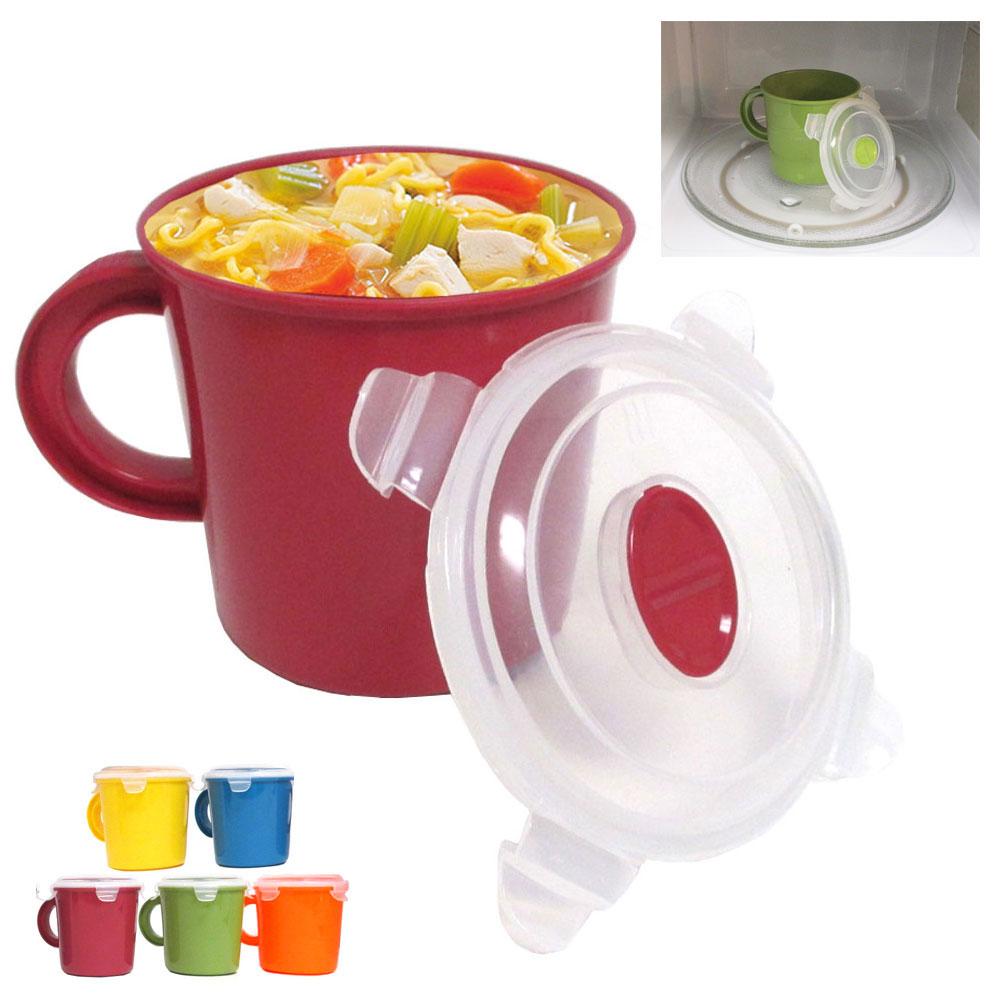 microwave food soup container cookware cup mug noodles bowl storage lid bpa free walmart com