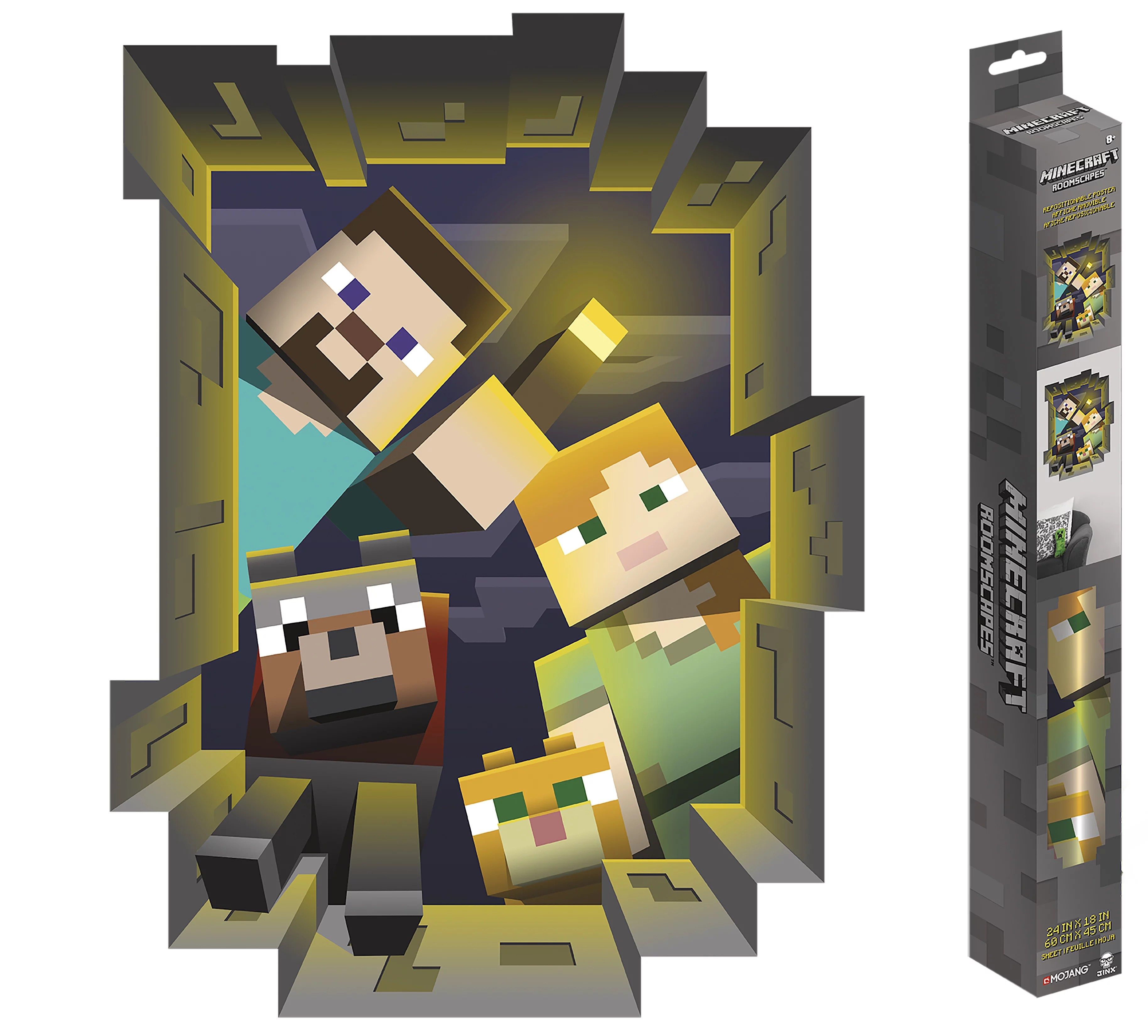 minecraft caved in roomscapes poster decal 18 x 24