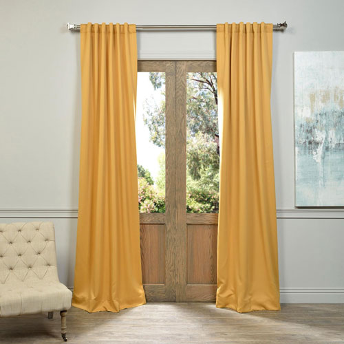 marigold yellow 50 x 84 inch blackout curtain pair 2 panel