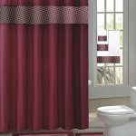 Burgundy Fresco 15 Piece Hotel Bathroom Sets 2 Non Slip Bath Mats Rugs Fabric Shower Curtain 12 Hooks Walmart Com Walmart Com